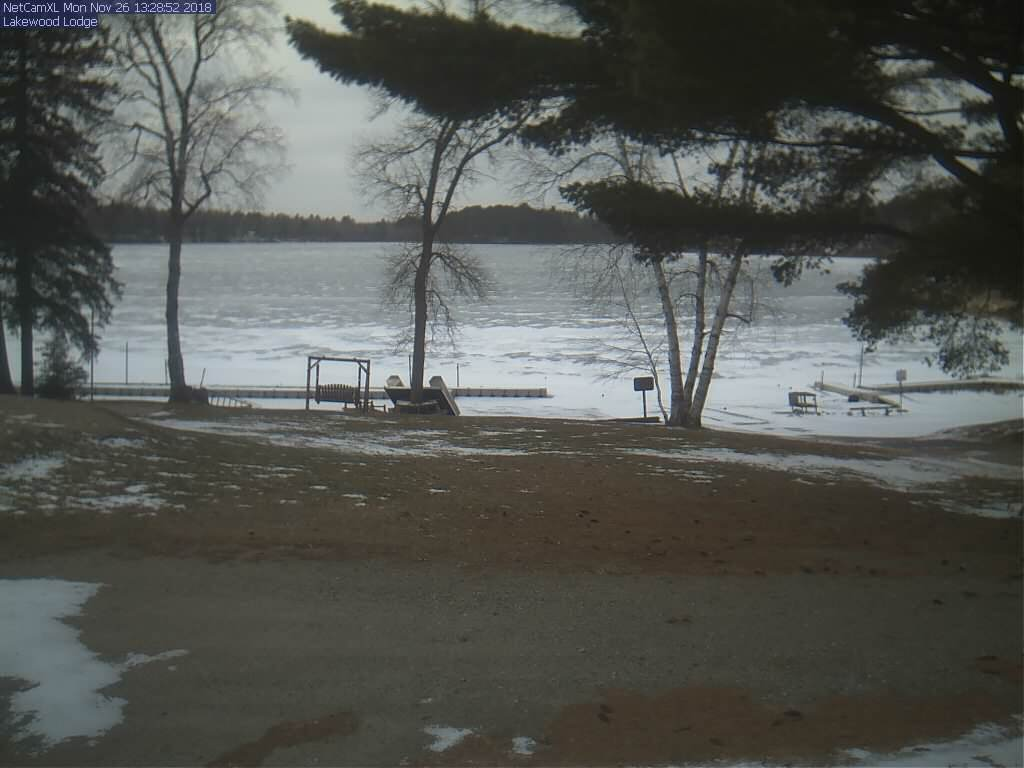 Webcam at Lakewood Lodge Lake on Sand Lake near Deer River Minnesota